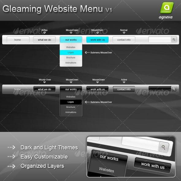 Gleaming Website Menu V1