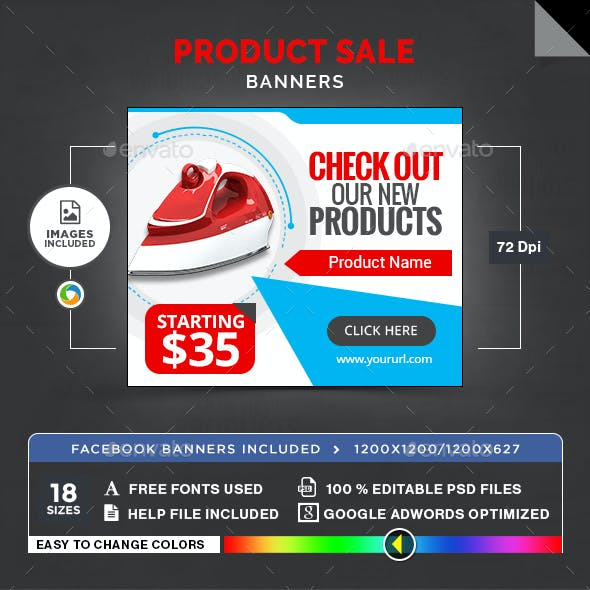 Product Sale Banners - Image Included