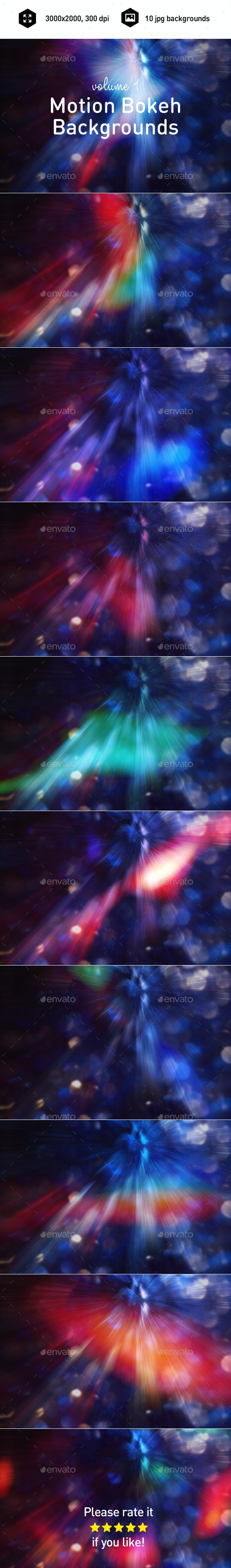 Motion Bokeh Backgrounds  - Abstract Backgrounds