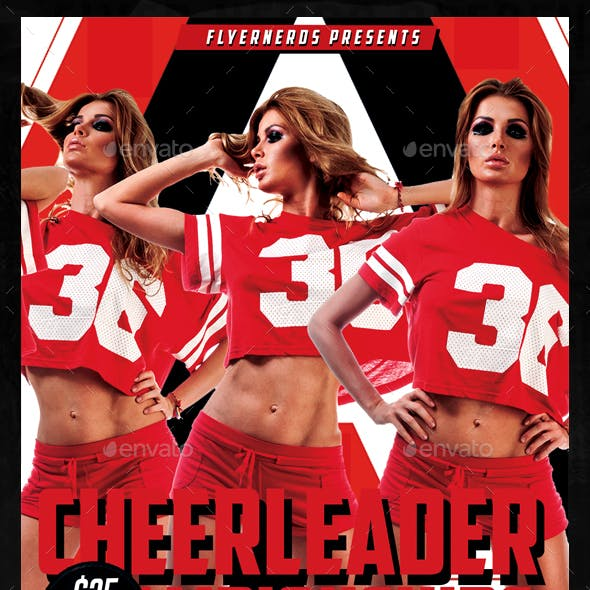 Cheerleader Competions Sports Flyer