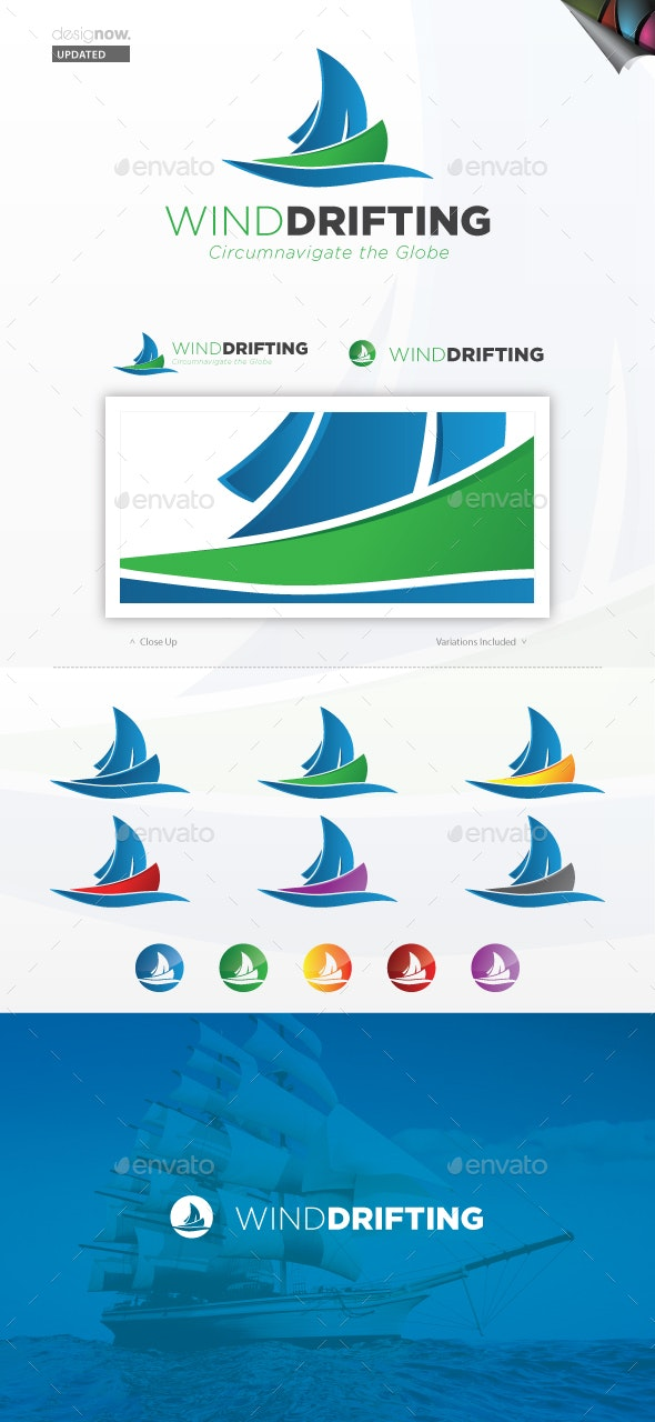 Wind Drifting Logo - Objects Logo Templates