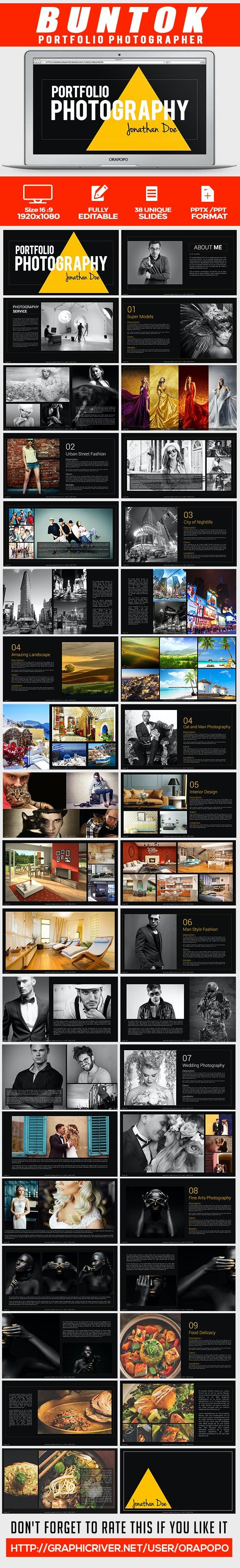 Buntok ~ Portfolio Photographer - Creative Keynote Templates