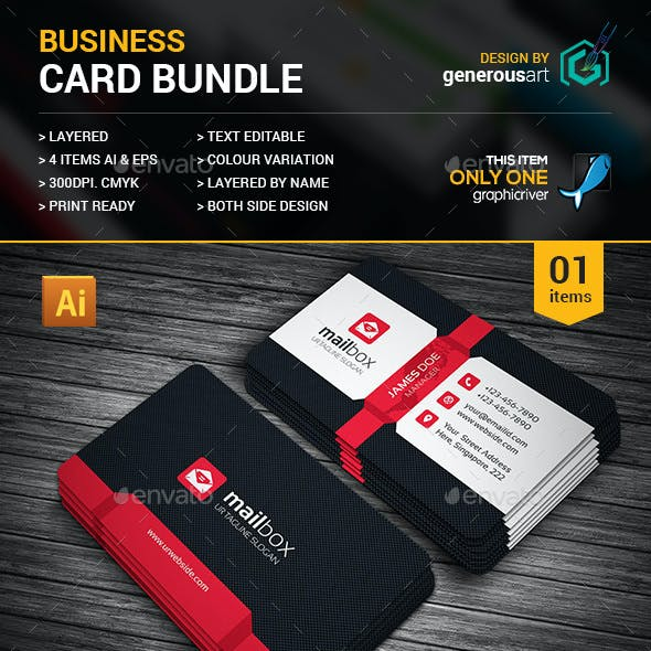 Business Card Bundle 4 in 1
