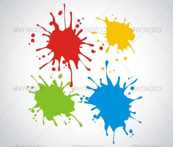 Paint Splash - Man-made Objects Objects
