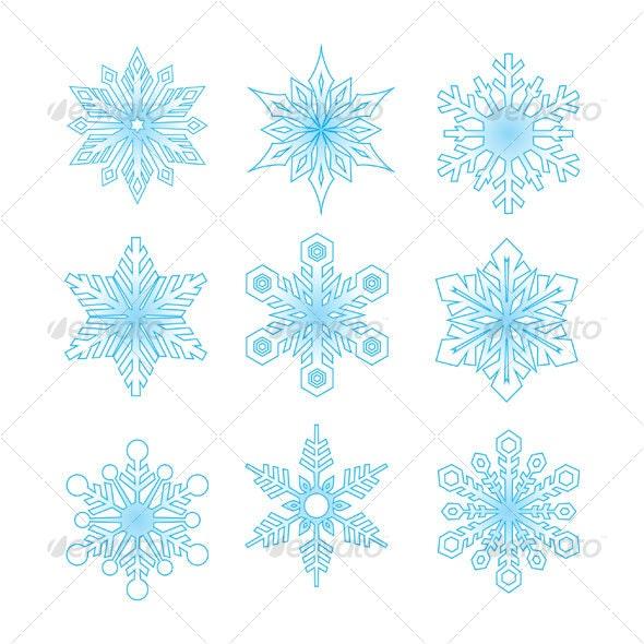 snow flakes - Decorative Symbols Decorative