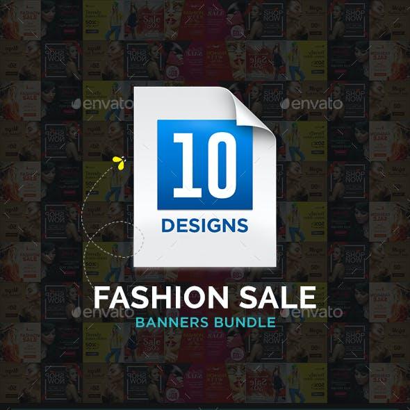 Fashion Sale Banners Bundle - 10 Sets - 172 Banners