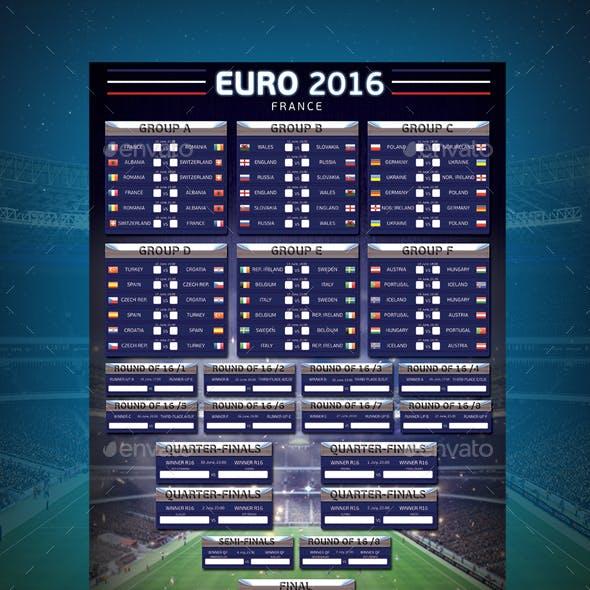 EUROPEAN FOOTBALL 2016 Wallchart