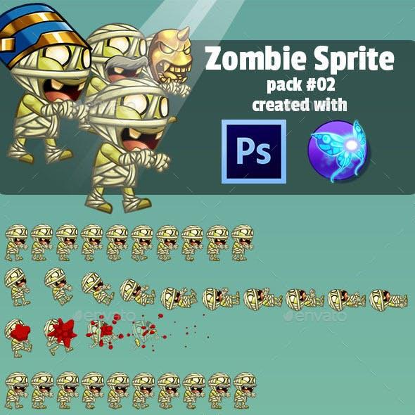 Zombie Enemy Sprite Sheet Pack #02