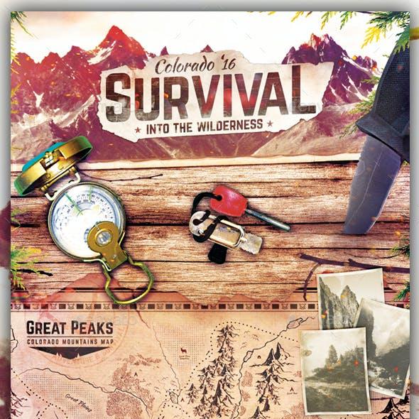 Survival School - Wilderness Flyer Template