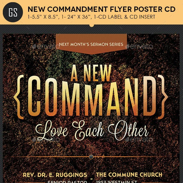 New Commandment Flyer Poster CD Template