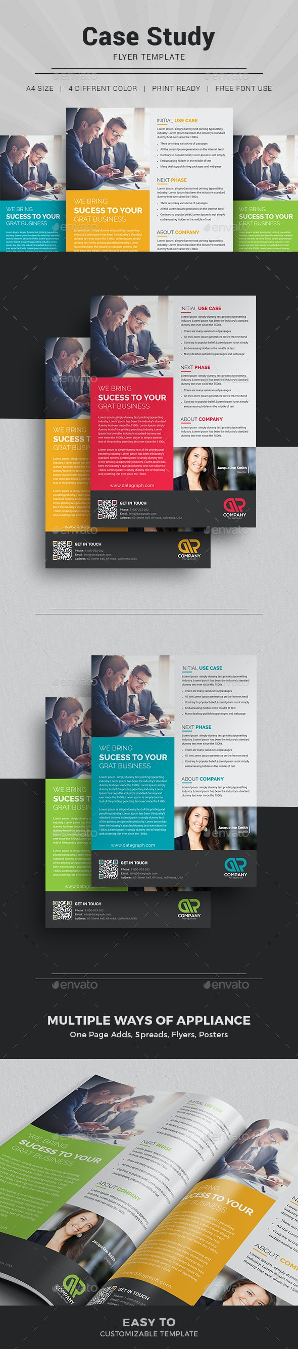 Case Study Template I Flyer - Newsletters Print Templates