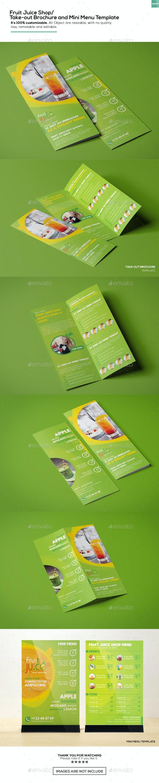 Fruit Juice Shop/  Take-out Brochure and Mini Menu Template - Informational Brochures