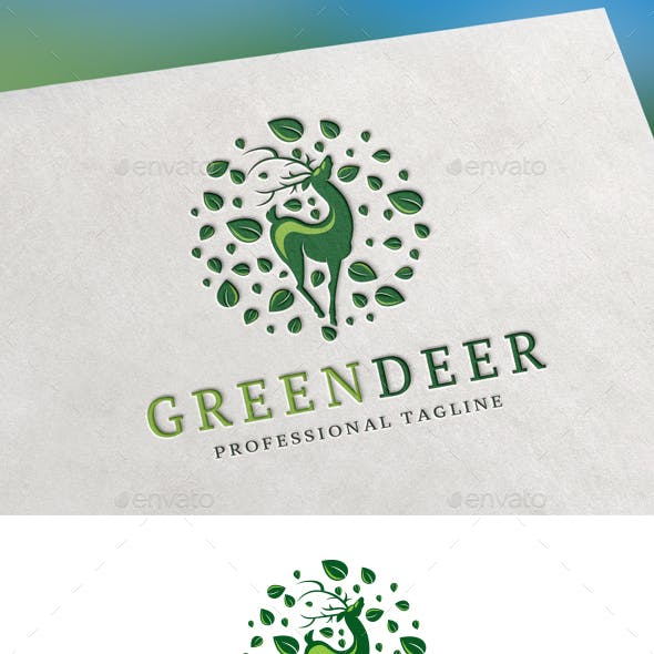Green Deer Logo
