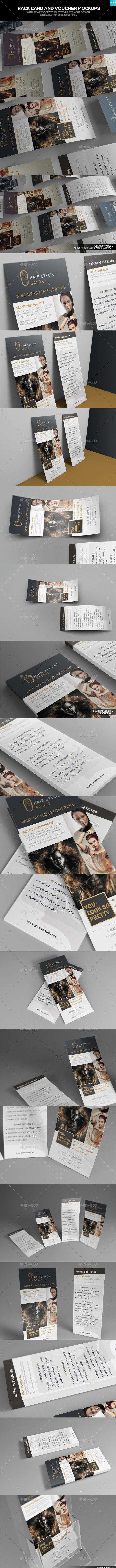 Rack Card and Voucher Mockups - Miscellaneous Print