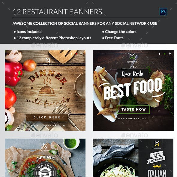 Food & Restaurant banners