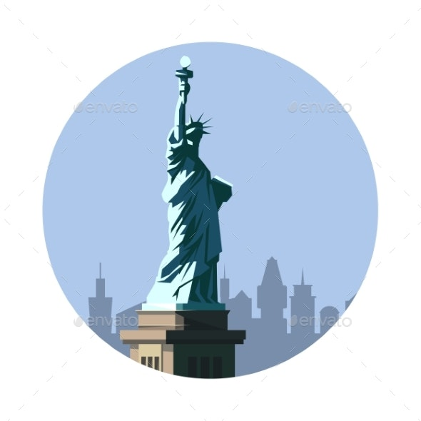 Statue of Liberty Icon - Buildings Objects