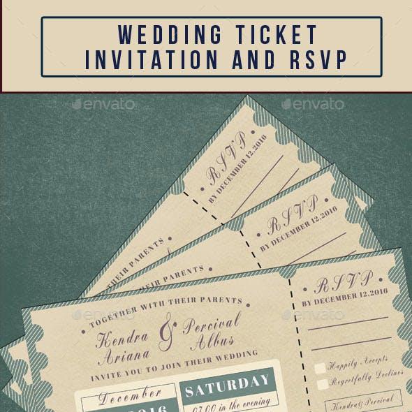 Wedding Invitation & RSVP Ticket