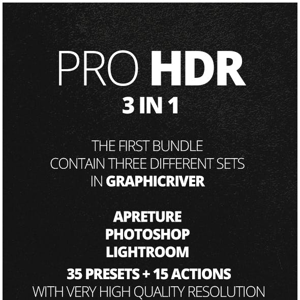 50 Pro HDR Bundle Effects 3 IN 1