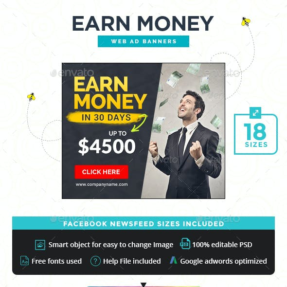 Earn Money Banners