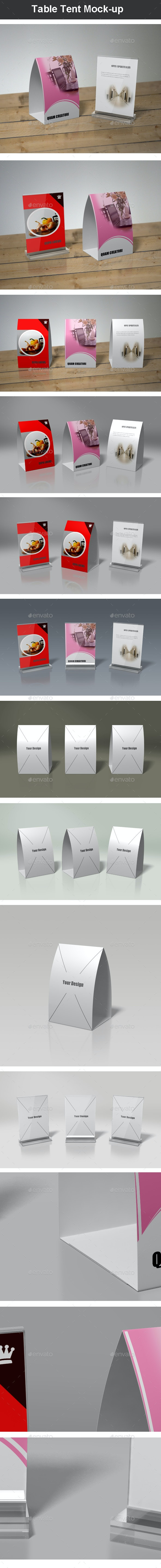 Table Tent Mock-up - Miscellaneous Print