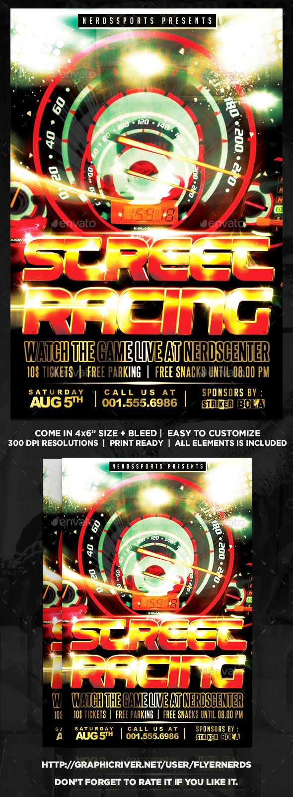 Street Racing Sports Flyer - Sports Events