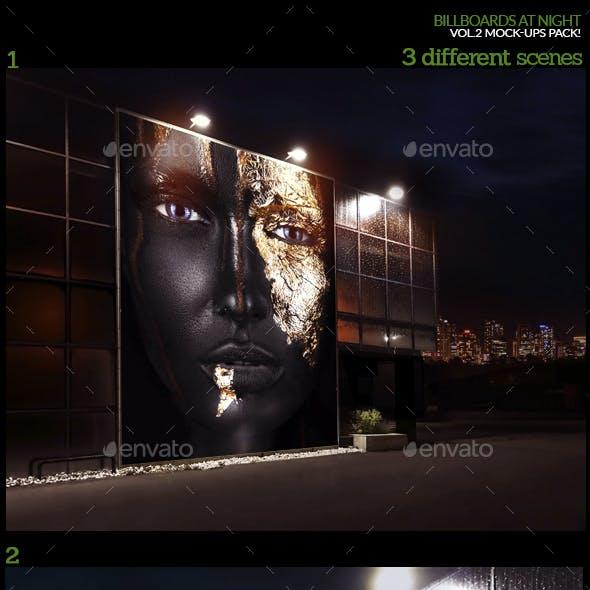 Billboards At Night Vol.2 Mock-Ups Pack