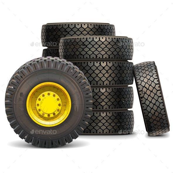 Old Tractor Wheel Set