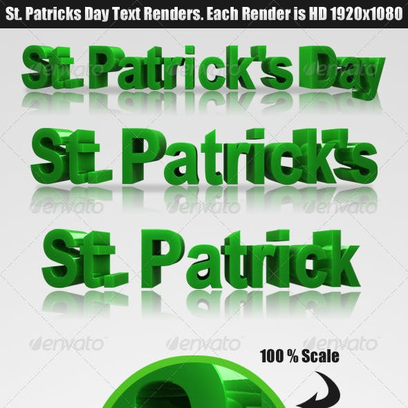 St. Patrick's Day - Renders