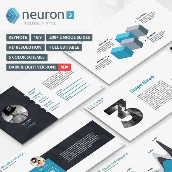 Neuron 3 - Modern Keynote Template