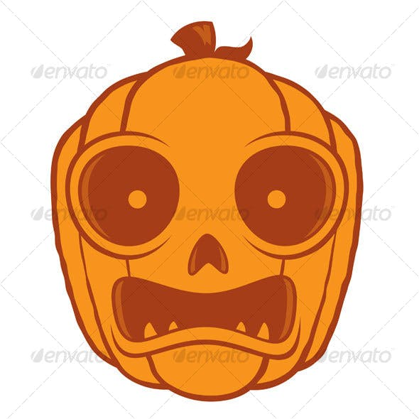 Frightened Jack-O-Lantern
