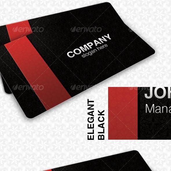 Elegant Black Pattern Card