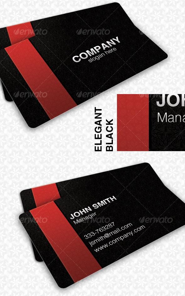 Elegant Black Pattern Card - Corporate Business Cards