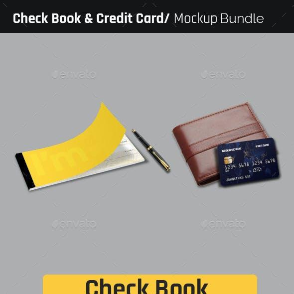 Check Book and Credit Card Mock-Up Bundle