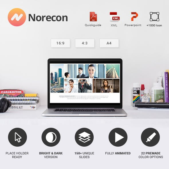 Norecon - Fresh Powerpoint Template