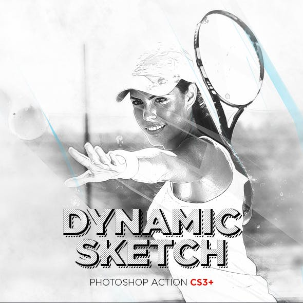 Dynamic Sketch Photoshop Action CS3+