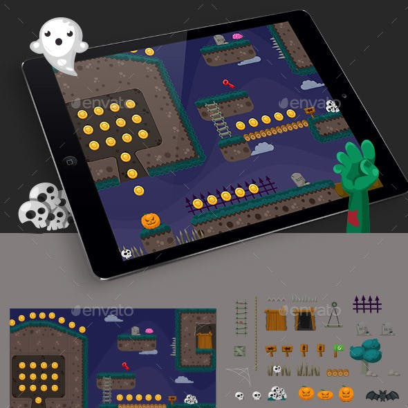 Zombie Game Platformer Tilesets