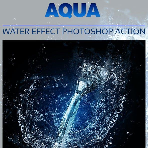 Aqua Photoshop Action