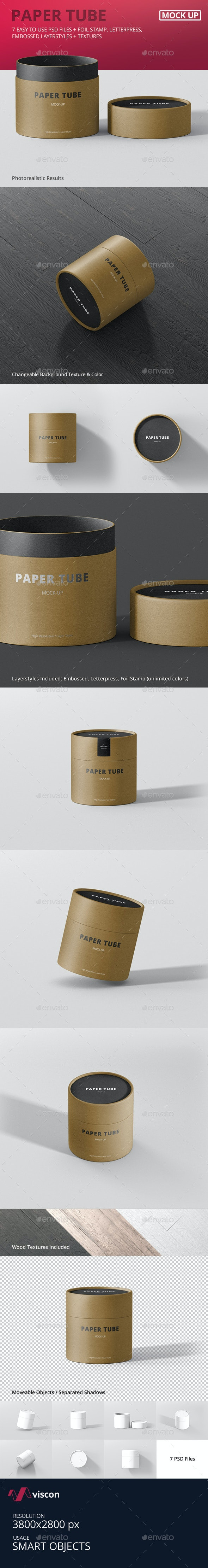 Paper Tube Packaging Mock-Up - Small - Miscellaneous Packaging
