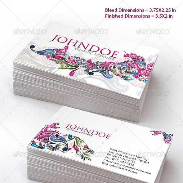 Stylish Floral Business Card Set