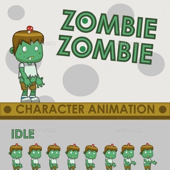 Zombie Enemy Sprite Sheet #1