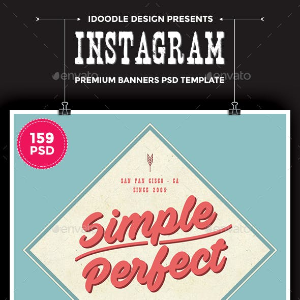 Promotion Instagram Banners Ads - 159 PSD Bundle