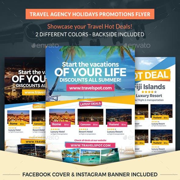 Travel Agency Holidays Promotion Flyer