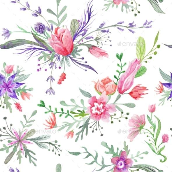 Watercolor Vintage Summer Pattern