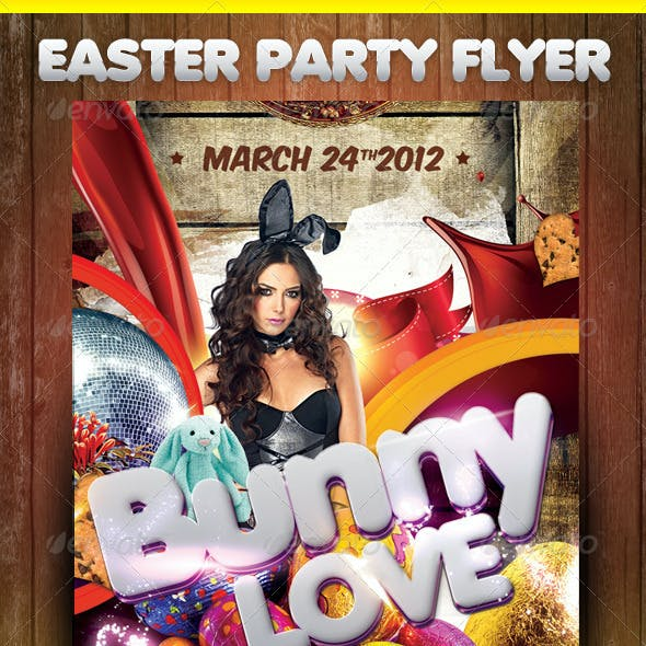 Easter Theme Party Flyer