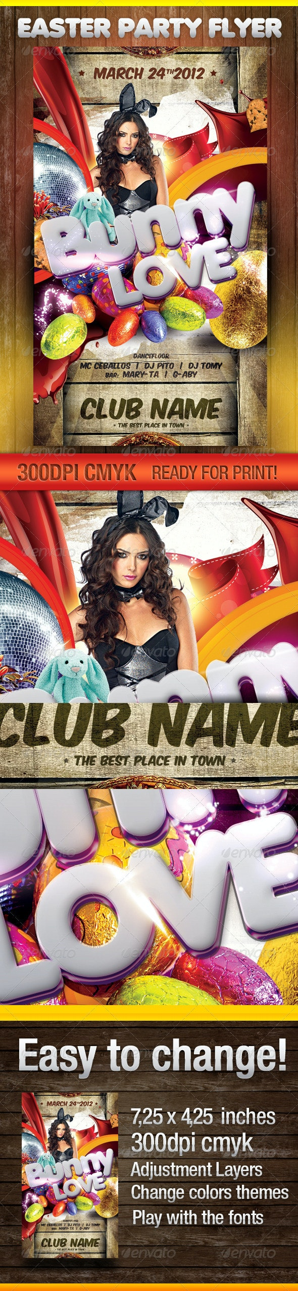 Easter Theme Party Flyer - Clubs & Parties Events