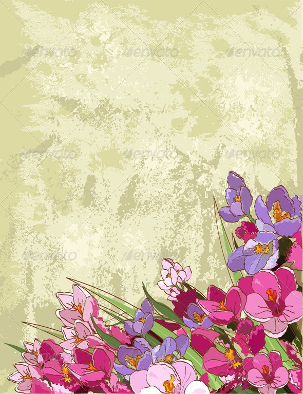 Spring flowers design - Backgrounds Decorative