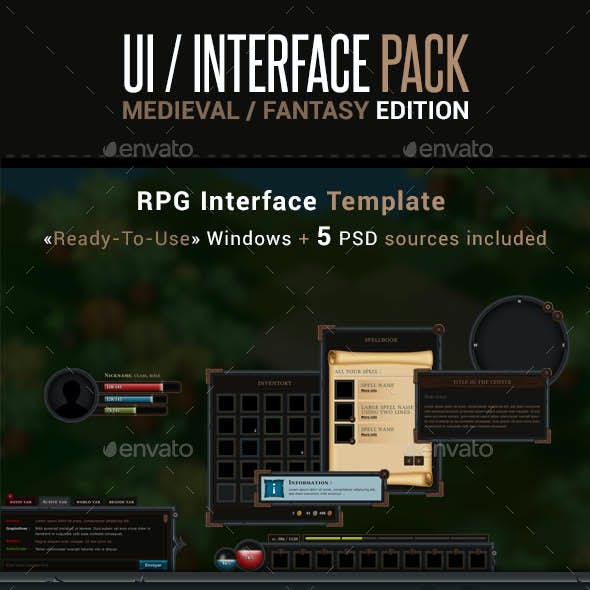 Game UI Interface Pack - Medieval Fantasy Edition