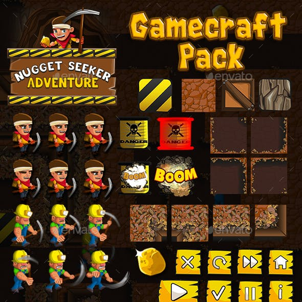 Nugget Seeker Adventure - Game Assets