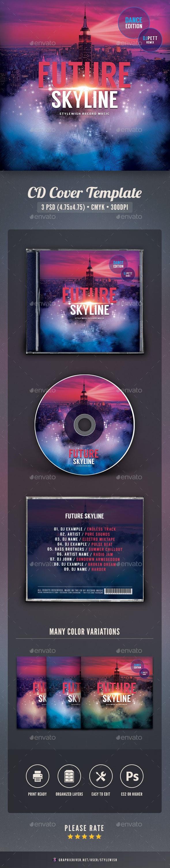 Future Skyline CD Cover Artwork - CD & DVD Artwork Print Templates