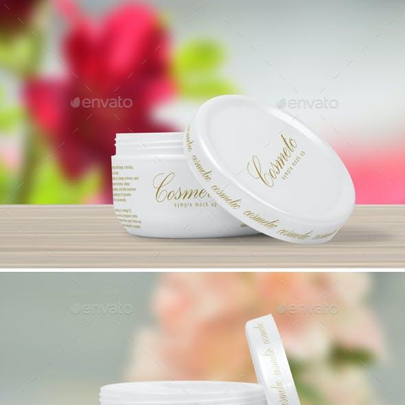 Cosmetic Cream Pot Mock-up